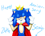 Happy 24th Anniversary Sonic by Star-of-Magenta