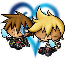 PPG Commission: Sora and Roxas by JKSketchy