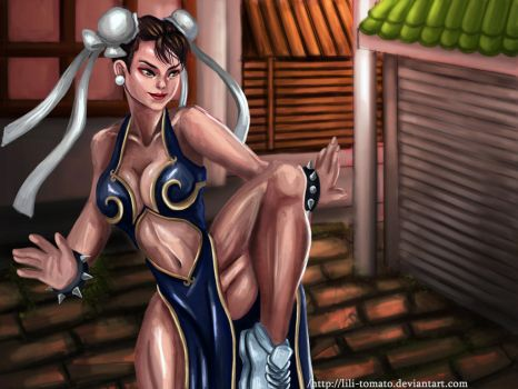Chun-Li From Street fighters by lili-tomato