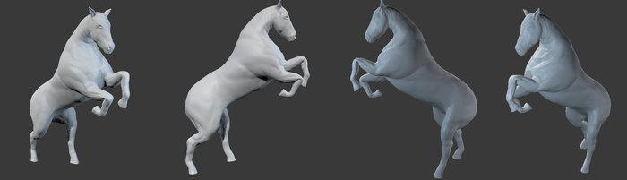 Horse anatomy study sculpt - 2 by elaamblood