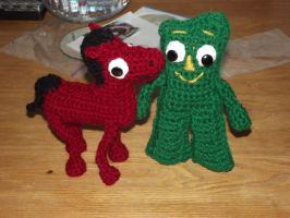 Gumby and Pokey amigurumi by Amigurumi-Lover