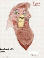 My First Ever Lion King Related Drawing-Kovu by LeoSandra85