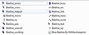 BLUE BEE STYLE CURSORS by MrMarchenprinz