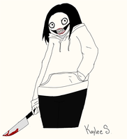 Jeff the Killer colored by RainbowRain-Drops