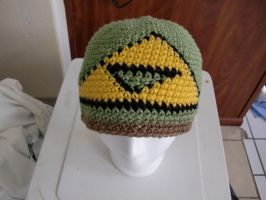 Legend of Zelda TRIFORCE Crochet Beanie by retrocrafts