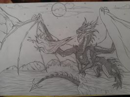Smaug, Lord Of The Lonely Mountain by The-MuseDragon