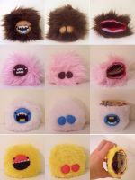 FOUR MONSTER COIN PURSES by loveandasandwich