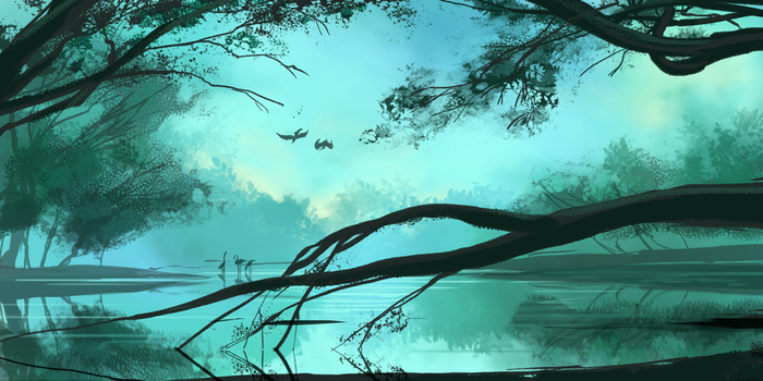 marshes by katcrunch