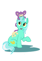 Lyra And Aipom by Paladin-Drakkenwolf