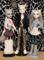 Monster High Arctic Werewolves by rainbow1977