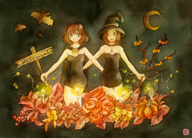 Halloween Plants by muttiy