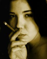 smoking in sepia by grimgail