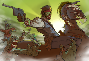 RDR Undead Nightmare green sunset by Daeron-Red-Fire