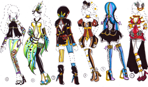 CLOSED-Fantasy OUTFIT adopts by Guppie-Adopts
