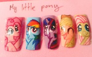 MLP Nail art by Onikaya