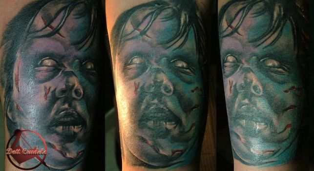 The exorcist tattoo by dottcrudele