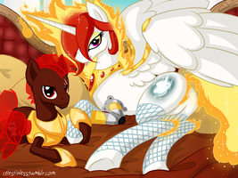Gift: Starlight Solaris and Crimson Shadowclaw by Celestialess