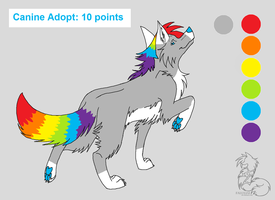Wolf Adopt CLOSED by AaliAdopts