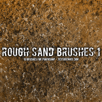 Free Rough Sand Brushes by AscendedArts