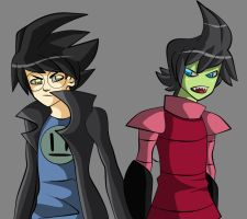 ZIM and Dib... New...Haircuts by Grim-Raider