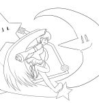 Miku in the Space Zone v2 :Lineart: by Xero-J
