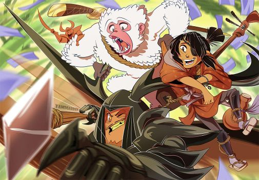 Kubo and the two Homies by YAMsgarden