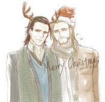 Thorki Merry Christmas by Kat21741378