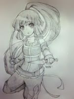 LOG HORIZON-Akatsuki [SKETCH] by Shiira-Nyan