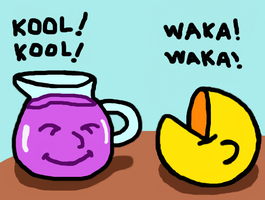 Pacman and kool-aid by Maleiva