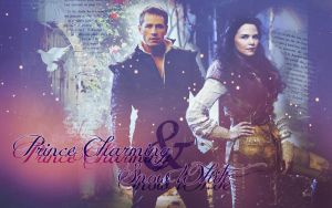 Prince Charming and Snow White by JacobBlacksPrincess