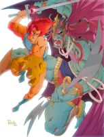 Lion-O vs Mumm-RA by Fpeniche