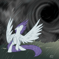 MLP Storm Eye brings rain by The-Clockwork-Crow