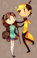 DEAL?? ~ doodle ~ Gravity Falls ` Mabel + Bill ~ by Hitomi-chy