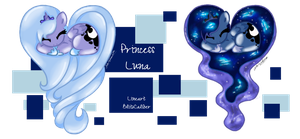~Princess Luna Chibi Heart~ by zeepaarden
