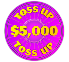 Wheel of Fortune - $5,000 Toss Up Icon by darellnonis