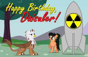 Happy Birthday, Daisuler by TheRockinStallion