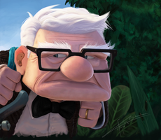 Pixar's Up :Carl Fredricksen by Imaginesto