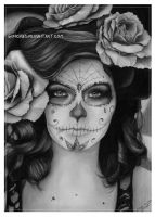 Sugar-skull girl by Gunchixs