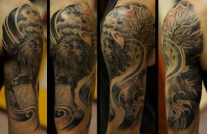 Lion halfsleeve by strangeris