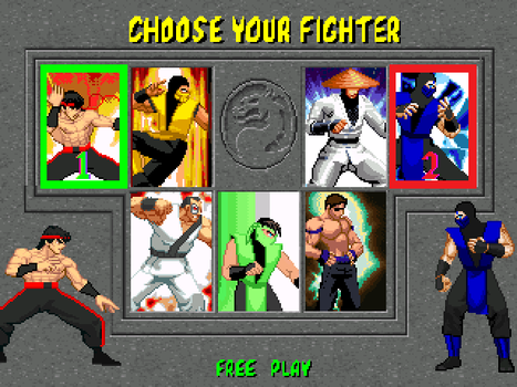 MK CVS Remake Char Select Update by Lawrence237