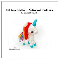 Rainbow Unicorn Amigurumi Pattern by adorablykawaii