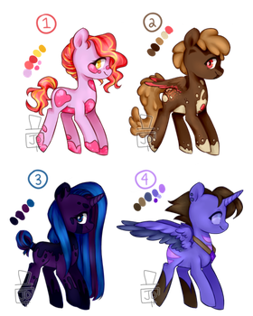 Pony Adopts-- OPEN + UPDATED by thehatter-adopts
