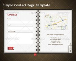 Contact Page Template by wasimshahzad