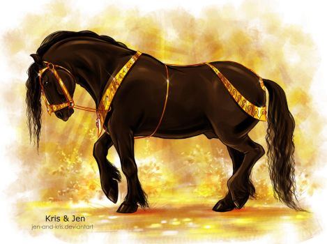 Commission. King Horse by jen-and-kris