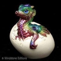 Rainbow Hatching Empress dragon by Reptangle