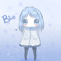 Blue AND THE WINTER by Somichii