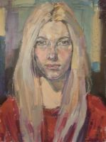 oil portrait by Konnova