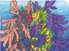 sea dragons by iwuvrubberduckies