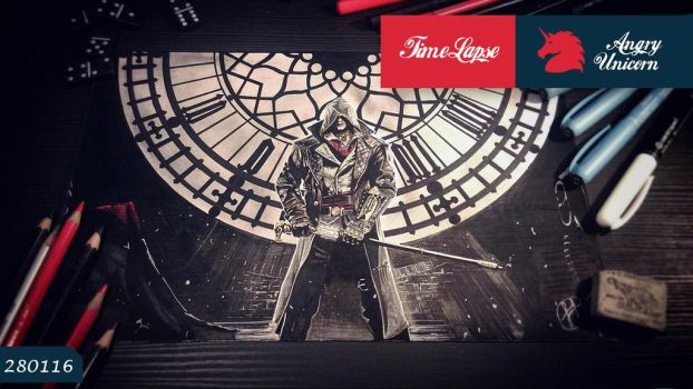Assasins Creed Timelapse Drawing by EpicArtManiac