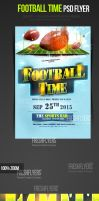 Football Time Sports Flyer Template by ImperialFlyers